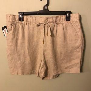 NWT Company by Ellen Tracy linen shorts size xxl